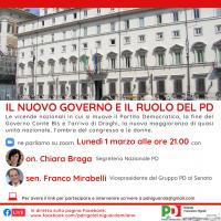 Il nuovo Governo e il ruolo del PD