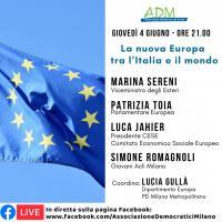 La nuova Europa tra l'Italia e il mondo