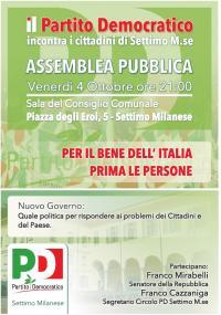 Assemblea PD a Settimo Milanese