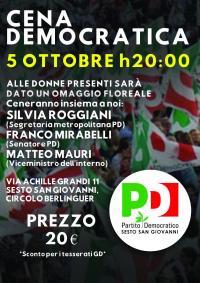 Cena Democratica a Sesto San Giovanni