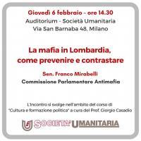 La mafia in Lombardia, come prevenire e contrastare - Milano