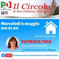 Incontro virtuale con Patrizia Toia il Circolo PD di San Giuliano Milanese