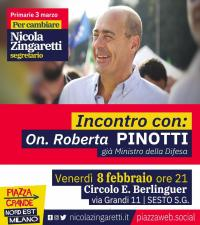 Roberta Pinotti a Sesto San Giovanni