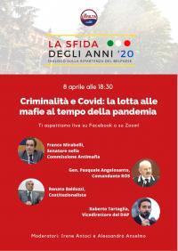 Criminalità e Covid: la lotta alle mafie al tempo della pandemia