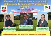 Manovra di Bilancio: idee e proposte in sintonia con la svolta dell'Europa per lo sviluppo