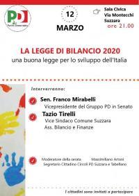 La Legge di Bilancio 2020 - Suzzara (MN)