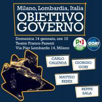 Milano Lombardia Italia, obiettivo Governo