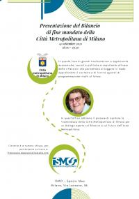 Presentazione del Bilancio di fine mandato della Città Metropolitana di Milano