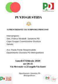 La Prescrizione e il tempo del Processo - Milano