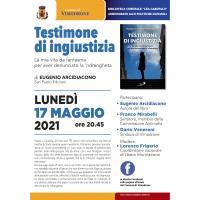"""Presentazione del libro """"Testimone di Ingiustizia"""""""