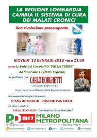 Regione Lombardia cambia il sistema di cura dei malati cronici