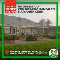 Aperitivo elettorale con Rosario Pantaleo e Arianna Censi