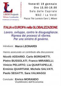 Italia e Europa nella Globalizzazione