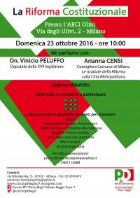 Riforma Costituzionale - Baggio, Milano