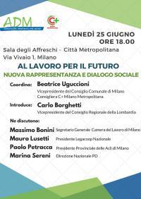 Al lavoro per il futuro. Nuova rappresentanza e dialogo sociale