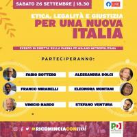 Etica, legalità e giustizia per una nuova Italia - Milano