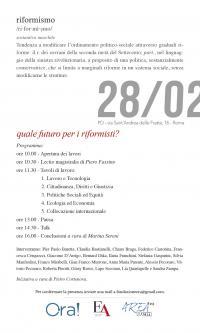 Quale futuro per i riformisti - Roma