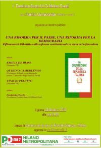 Una Riforma per il Paese - Milano