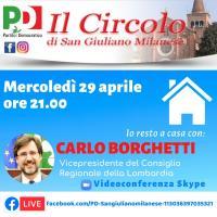 Incontro virtuale con Carlo Borghetti e il Circolo PD di San Giuliano Milanese
